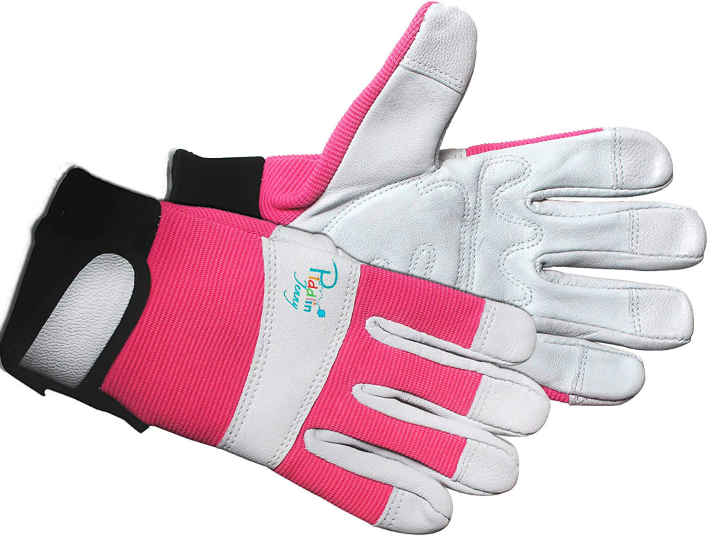 Piddlin' Jenny Women's Leather toddlers gardening gloves